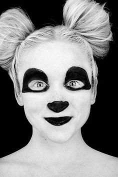 Panda Makeup Tutorial [Halloween] | Halloween! | Pinterest | Panda ...