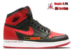 promo code 2e580 023d0 Nike Air Jordan 1 Retro High OG GS - Chaussures Basket Jordan Pas Cher Pour  Femme Enfant NOIR VARSITÉ ROUGE-BLANC 575441-001