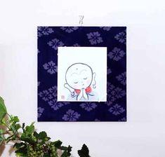 和布で作る、ミニ色紙掛け