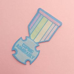 Coping Admirably Iron On Patch - Woven Rainbow Patch - Adult Achievement - Positivity Patch Iron On Patches, Positivity, Rainbow, Purple, Blue, Lettering, How To Make, Etsy, Challenge
