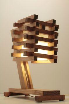 Wood Table/Desk/Bedside Lamp III by WoodWarmth on Etsy https://www.etsy.com/listing/173431270/wood-tabledeskbedside-lamp-iii