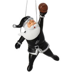 San Antonio Spurs Action Santa Ornament