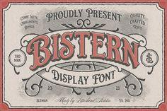 Bistern - Victorian Display Font #victorianfont #victorianframe #victorianornaments