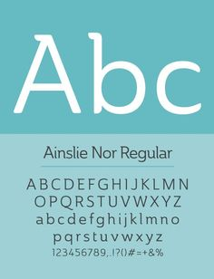 free fonts 2014 Ainslie