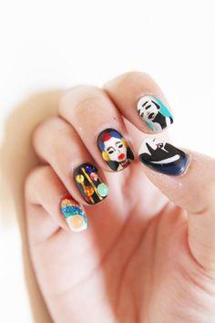 prada inspired nail art - Pinterest: Joelle│ɷ Oh Happy Land