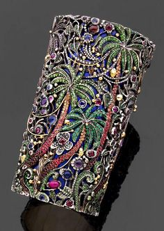 It might not be beautiful or stylish but I'd wear it. Every day (>.<) #jewelry Jean Boggio jewel encrusted cuff