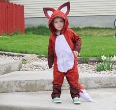 the cutest fox costume ever!!! One of my twinners is going to be a fox next year whether they like it or not!!