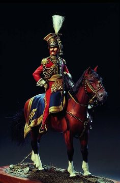 General Colbert of te Dutch Lancers of the Guard - Virtual Museum of Historical Miniatures Military Working Dogs, Military Art, Military Uniforms, Military History, Empire, Warrior Paint, Etat Major, Home Guard, Military Action Figures