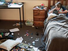 Does ADHD cause kids to be messy? Read about the connection between ADHD and messiness, and how to help your child learn to keep things neat. Messy Desk, Messy Room, Adhd Medicine, Causes Of Adhd, Adhd Brain, Adhd Strategies, Working Memory, Make A Plan