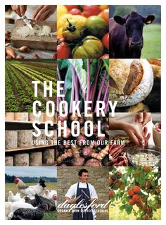Cookery School Brochure, Daylesford Organic by Vikki Packer, via Behance