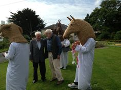 """""""THE LAST MUMMER  Carries a stone in his pocket,  an ash-plant under his arm. Moves out of the fog On the lawn, pads up the terrace."""" RIP Seamus Heaney 1939-2013  Seamus Heaney & Michael Longley pose with the Armagh Rhymers for publicity for the Merriman Summer School 2013, Sheedy's Hotel, Lisdoonvarna, Co. Clare"""
