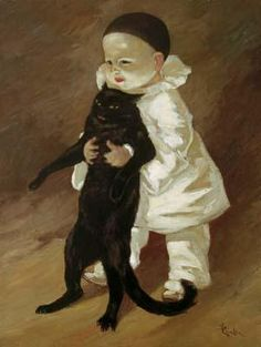 Theophile Alexandre Steinlen - Pierrot and Cat