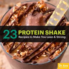 23 Protein Shake Recipes to Make You Lean & Strong - Dr. Axe - 23 Protein Shake Recipes to Make You Lean & Strong - Protein Snacks, Pancakes Protein, Healthy Protein Shakes, Protein Shake Recipes, Healthy Smoothies, Smoothie Recipes, Lean Protein, Muscle Protein, Vitamix Recipes