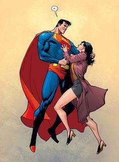Superman and Lois Lane by Leinil Francis Yu Superman And Lois Lane, Superman Family, Superman Stuff, Superman Art, Clark Superman, Batman, Comic Books Art, Comic Art, Superman