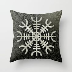 Aegirshjalmur is a protective viking/celtic symbol  #art #design #interior #homedecor #3dart #throwpillow #cushion #design #exclusive #viking #celtic #norway #iceland #aegirshjalmur #pillow