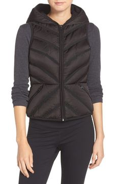 Blanc Noir Hooded Puffer Vest available at #Nordstrom