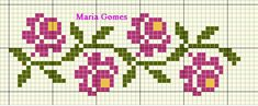 Tiny Cross Stitch, Cross Stitch Bookmarks, Cross Stitch Borders, Cross Stitch Flowers, Cross Stitch Designs, Cross Stitching, Cross Stitch Embroidery, Embroidery Patterns, Cross Stitch Patterns