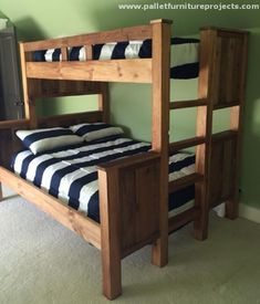 This is again a plain and simple wooden pallet bunk bed project. Straight and…