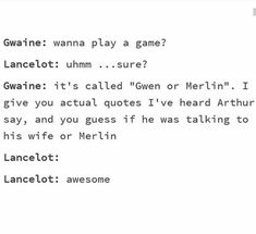 I want to play this game with aomeone who has never seen merlin Merlin Serie, Merlin Show, Merlin Fandom, Merlin Funny, Merlin Memes, Merlin And Arthur, King Arthur, Fandoms, Impossible Game