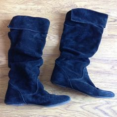Black Suede Bonanza Boots Black suede boots by Bonanza. Pre-loved, still in good condition. Size 7.5. Bonanza Shoes Combat & Moto Boots