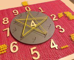 Geometry Activities, Math Activities, Montessori Elementary, Elementary Math, Times Tables, Math For Kids, Mandala, Clock, Holiday Decor