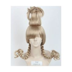 Party Wig Hair/How the Grinch Stole Christmas The Grinch Cindy Lou Who... ❤ liked on Polyvore featuring beauty products, haircare, hair styling tools and curly hair care