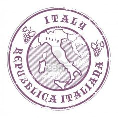 Italian passport visa stamp