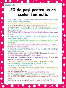 You searched for Cum sa ai un an scolar fantastic in 20 de pasi simpli - EmaLaScoala
