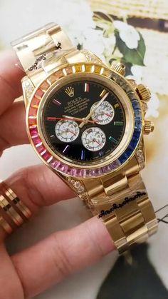 Please Re-Pin for later 😍💞 gold rolex watch, gold rolex daytona, gold rolex watches men, gold rolex submariner, white gold rolex, gold rolex day date Rolex Daytona Gold, Rolex Daytona Watch, Rolex Watches For Men, Luxury Watches, Gold Watches, Vintage Rolex, Rolex Or Rose, Rolex Tattoo, Breitling