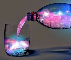 Whoa what?! Glow-in-the Dark Aurora Borealis Cocktail Recipe, This will actually glow in the dark.