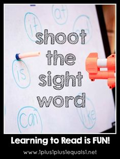 "Shoot the Sight Word!  Great fun for active young learners! <a class=""pintag"" href=""/explore/literacy/"" title=""#literacy explore Pinterest"">#literacy</a> <a class=""pintag"" href=""/explore/kindergarten/"" title=""#kindergarten explore Pinterest"">#kindergarten</a>                                                                                                                                                                                 More"