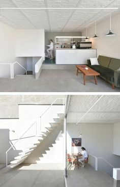Precast Concrete, Concrete Blocks, Ceiling Height, Apartment Design, Skylight, Second Floor, Facade, Loft, Shelves