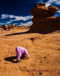 Our daughter's Downward-Facing Dog Pose at Goblin Valley State Park in Utah :)