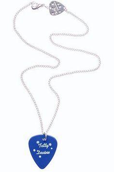 Plectrum blue pendant