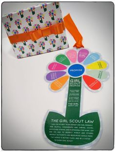Girl Scout printables | Printable Daisy Bookmark with Girl Scout Law and ... | Girl Scout Ide ...
