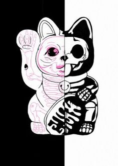 Maneki Neko, Cat Design, Adult Coloring Pages, Minnie Mouse, Disney Characters, Fictional Characters, Ink, Kitty Kitty, Cats