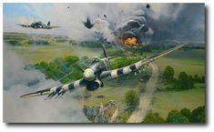 AVIATION ART HANGAR - Closing the Gap by Robert Taylor (Typhoon)