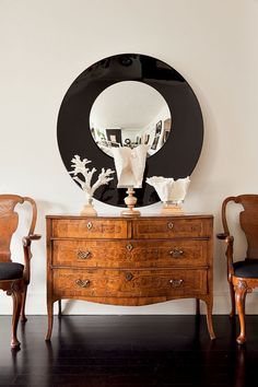 I love this chest--sleek and elegant and works in either a contemporary or traditional design scheme.