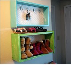 DIY home decor - shelves made from drawers! Nice two DIY tutorials and 32 ideas for how to decorate your home with old drawers from old furniture, which you hight wanted to get rid of Repurposed Furniture, Diy Furniture, Furniture Refinishing, Recycled Dresser, Refurbished Furniture, Furniture Repair, Furniture Plans, Street Furniture, Furniture Design