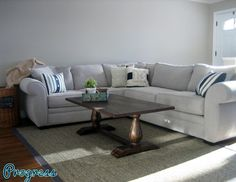 Macy's gray sectional