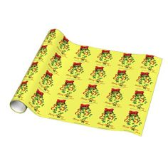Mistletoe Gift Wrapping paper. Shop now 4 #JesusSeason add name or initials to any gift 4Free! #ChristmasWrappingPaper #JesusSeason #Agrainofmustardseed #gifts #Zazzle