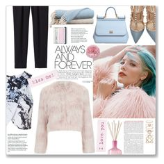 """""""Always and Forever"""" by ellaine-bullecer ❤ liked on Polyvore featuring RED Valentino, Rebecca Taylor, Topshop, Valentino, Dolce&Gabbana, LAFCO, Amrapur, Accessorize, Clinique and women's clothing"""