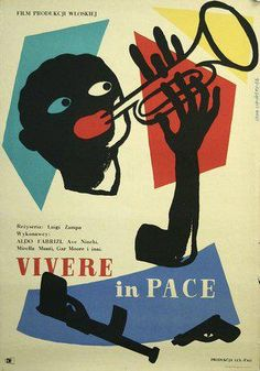 To Live in Peace circa 1940s Polish Jazz Poster via IRock JAZZ.