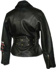 Womens Premium Naked Leather Motorcycle Jacket