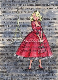 Paris 1957  The City At Night   Original ACEO by CastleOnTheHill, $19.50