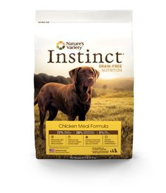 TOPSELLER! Nature`s Variety Instinct Grain-Free Dry Dog Food, Chicken Meal Formula,  25.3-Pound Package $49.78