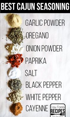 Perfect Homemade Cajun Seasoning- Perfect for adding flavor to meats, veggies, pasta, sides and more! This Cajun seasoning is gluten free, dairy free, and low carb friendly!