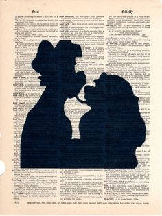 Repurposed Dictionary Art Featuring Disney's Lady and the Tramp *Buy 2 get 3rd FREE by SimpleeSaid on Etsy