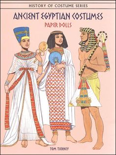 Ancient Egyptian Costumes Paper Dolls   Main photo (Cover)