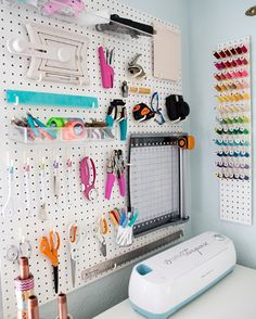 Check out the Something Turquoise Craft Room + Blog Office! - http://somethingturquoise.com/2015/08/13/stcraftroom-part-four-decor/